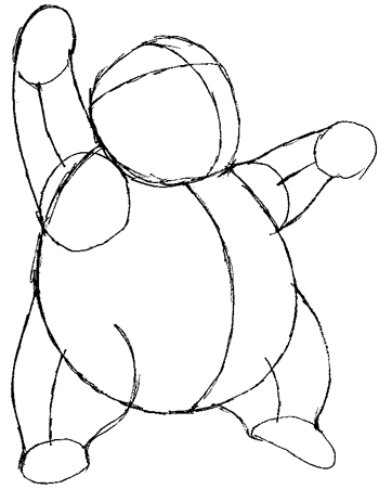 Step 5 : Drawing Drowzee from Pokemon in Easy Steps Tutorial for Kids