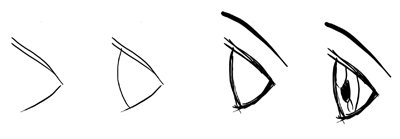 Technique 3 : How to Draw Profile Side View of Anime Manga Eyes