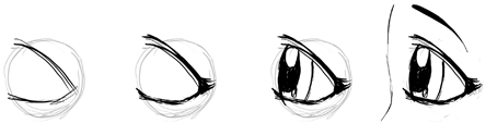 Technique 4 : How to Draw Profile Side View of Anime Manga Eyes