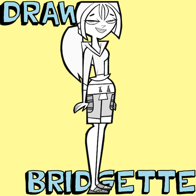 How to Draw Bridgette from Total Drama Island with Drawing Lesson for Kids