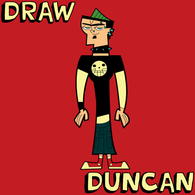 How to Draw Duncan from Total Drama Island & Action with Step by Step Drawing Tutorial