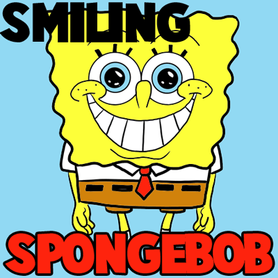 How to Draw Happy Beaming Smiling Spongeob Squarepants Drawing Lesson