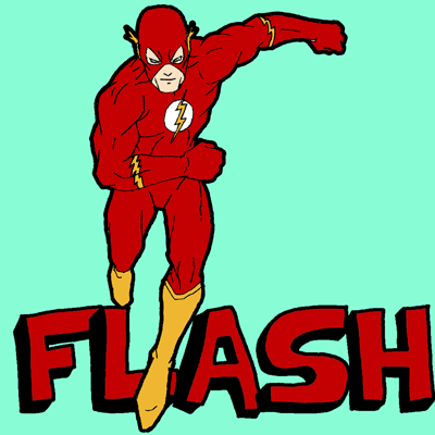 How to Draw Flash from DC Comics with Easy Instructional Steps