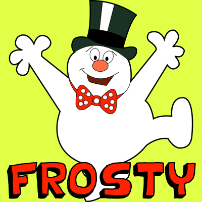 How to Draw Frosty the Snowman Step by Step Drwing Tutoriaal