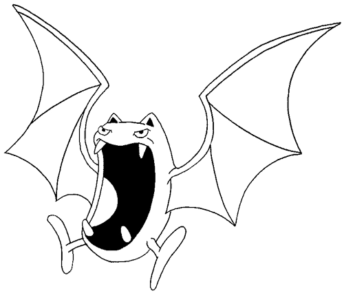 Step 6 : Drawing Golbat from Pokemon Drawing Lesson