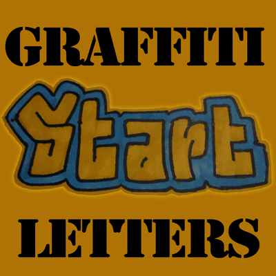 How to Draw Griffiti Letters from Start to End Step by Step Tutorial