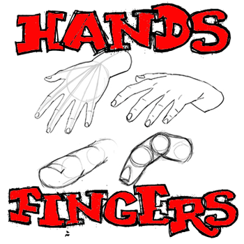 How to Draw Hands and Fingers in Manga Anime Illustration Style : Drawing Tutorial