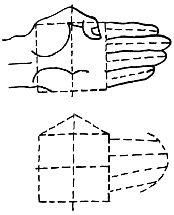 Drawing Hands and Fingers in Open Palms