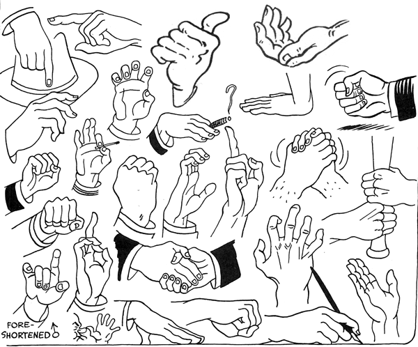 Drawing Hands in Different Poses