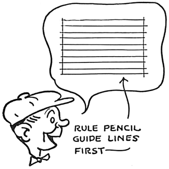 Spacing and Lining for Comic Strip Letters