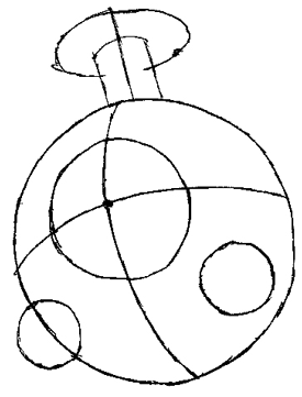 Step 3 : Drawing Magnemite from Pokemon with Easy Steps Lesson