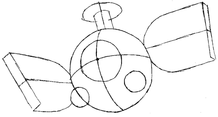 Step 4 : Drawing Magnemite from Pokemon with Easy Steps Lesson