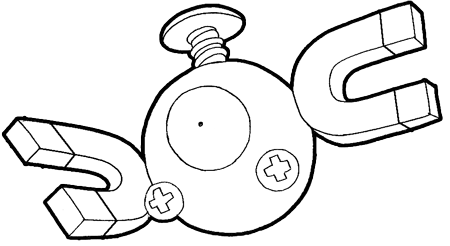 Step 7 : Drawing Magnemite from Pokemon with Easy Steps Lesson