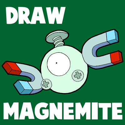 How to Draw Magnemite from Pokemon Step by Step Drawing Tutorial for Kids