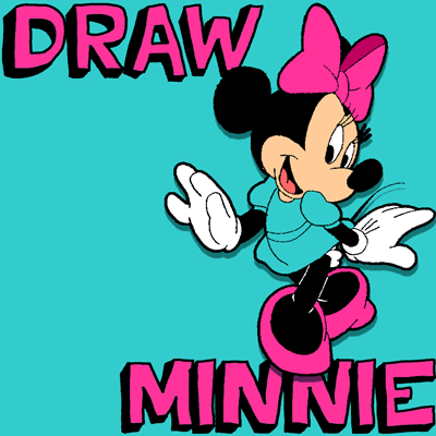 How to Draw Minnie Mouse with Simple Step by Step Drawing Lesson