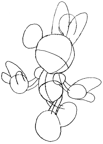 step 4 drawing minnie mouse in easy steps with instructions tutorial