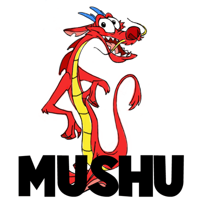 How To Draw Mushu Dragon From Mulan With Step By Step Drawing Lesson How To Draw Step By Step Drawing Tutorials