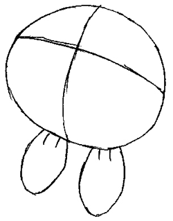Step 2 : Drawing Oddish from Pokemon Lesson