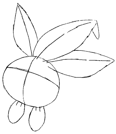 Step 3 : Drawing Oddish from Pokemon Lesson
