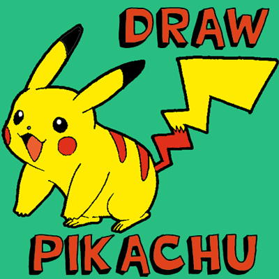 How to Draw Pikachu Smiling with Easy Step by Step Drawing Tutorial for Kids