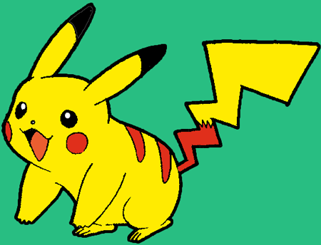 Finished Colorized Pikachu from Pokemon