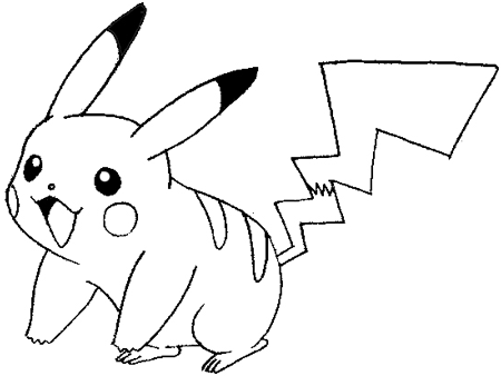 Step 8 drawing pikachu smiling in easy steps