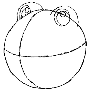 Step 2 : Drawing Poliwhirl with Simple Steps Tutorial