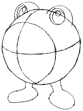 Step 3 : Drawing Poliwhirl with Simple Steps Tutorial