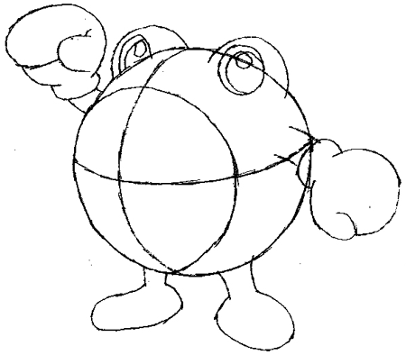 Step 4 : Drawing Poliwhirl with Simple Steps Tutorial