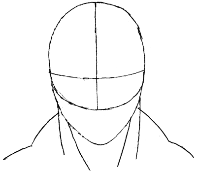 Step 3 : Drawing Spiderman's Face in Easy Steps Tutorial for Kids