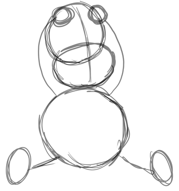 Step 2 : Drawing Baby Babies for New Years Day and Eve Lesson