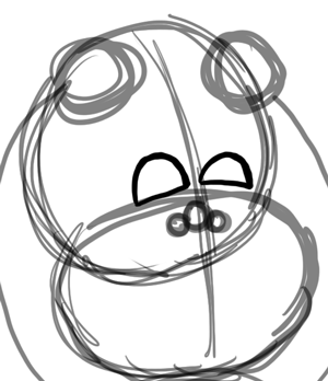Step 3 : Drawing Baby Babies for New Years Day and Eve Lesson