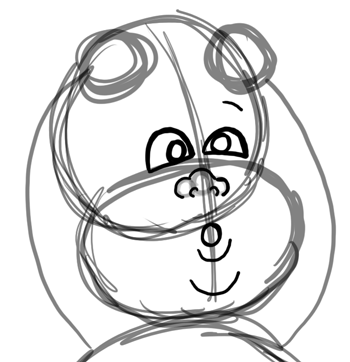 Step 4 : Drawing Baby Babies for New Years Day and Eve Lesson