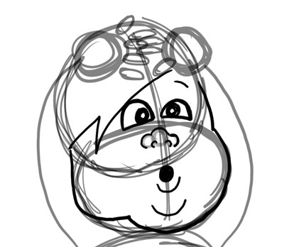 Step 5 : Drawing Baby Babies for New Years Day and Eve Lesson