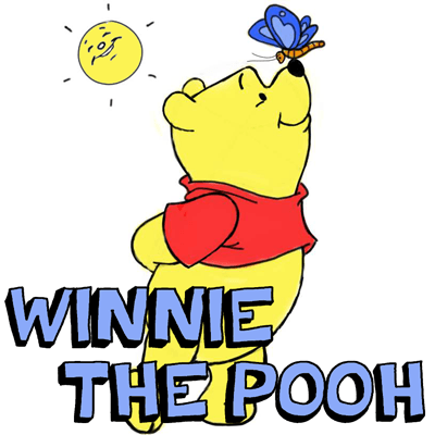 How to Draw Winnie the Poo and Butterfly with Step by Step Drawing Lesson