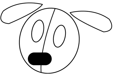 Step 1 : Drawing Puppies in easy steps tutorial
