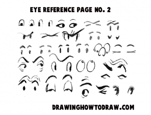 Reference Sheet 2 for Drawing Cartoon Eyes, Comics Eyes