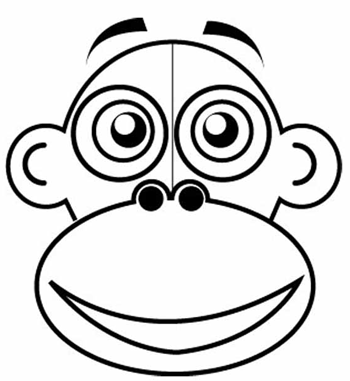 Step 2 : Drawing Cartoon Monkeys in Easy Steps Lesson for Children
