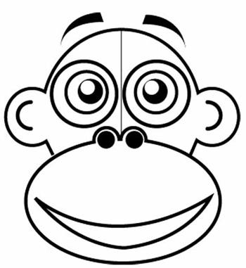 Step 2 : Drawing Cartoon Monkeys in Easy Steps Lesson for Children