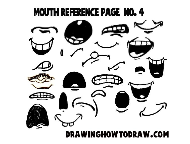 how to draw cartoon lips step by step