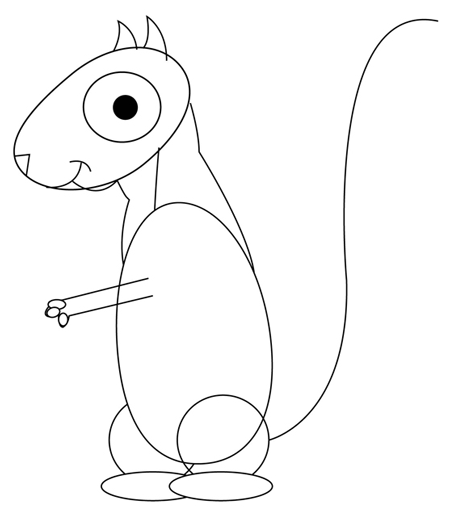 Step 4 : Drawing Cartoon Squirrels Cartooning Lesson
