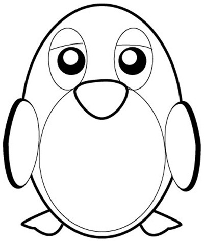 Step 5 : Drawing Cartoon Penguins in Easy Steps Lesson