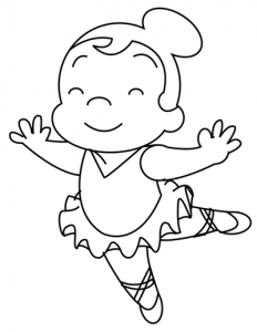 Step 6 : Drawing Cartoon Ballerinas in Simple Steps Lesson