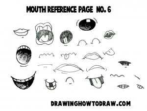 Cartoon Mouths Reference Sheets for How to Draw Comic Lips