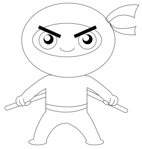 Step 7 : Drawing Cartoon Chibi Ninjas Steps Tutorial