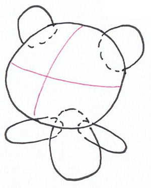 Step 1 : Drawing Rintoo from Ni Hao, KaiLan Step by Step Drawing Tutorial