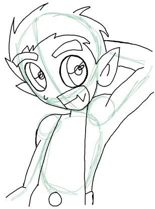 Step 10 : Drawing Beast Boy from Teen Titans Step by Step Tutorial