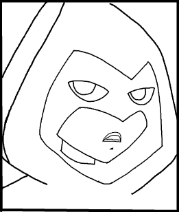 Step 10 : Drawing Raven from Teen Titans in Easy Steps Lesson