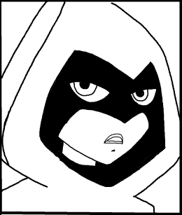 Step 11 : Drawing Raven from Teen Titans in Easy Steps Lesson