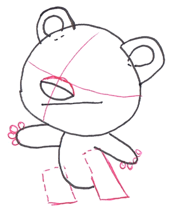 Step 2 : Drawing Rintoo from Ni Hao, KaiLan Step by Step Drawing Tutorial